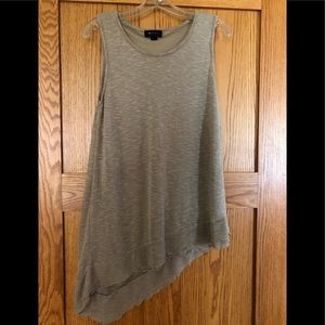 AB Studio  tan colored lined stretchy tank Sz L